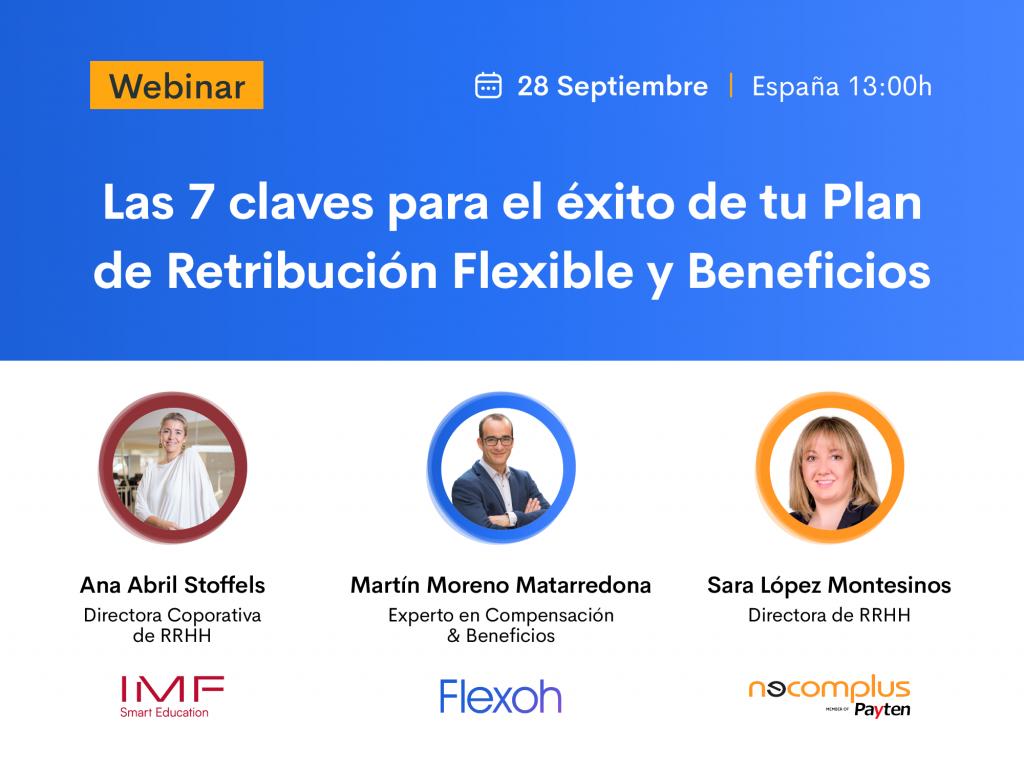 """webinar """"Las 7 claves para el éxito de tu Plan de Retribución Flexible y Beneficios"""""""